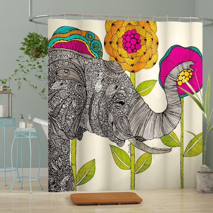 shower curtain A Funky Elephant Shower Curtain