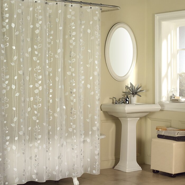 shower curtain A Shimmering Floral Curtain
