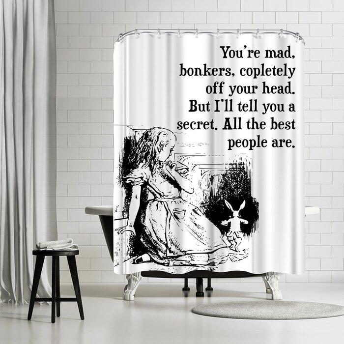 shower curtain Alice in Wonderland Shower Curtain