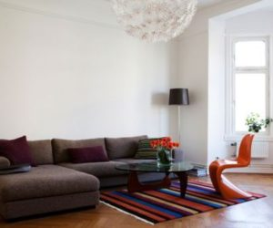 Classically Beautiful Apartment With Orange Chairs