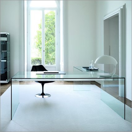 glass desks for office. minimalist glass desk that bursts with elegance and versatility unique office desks for o
