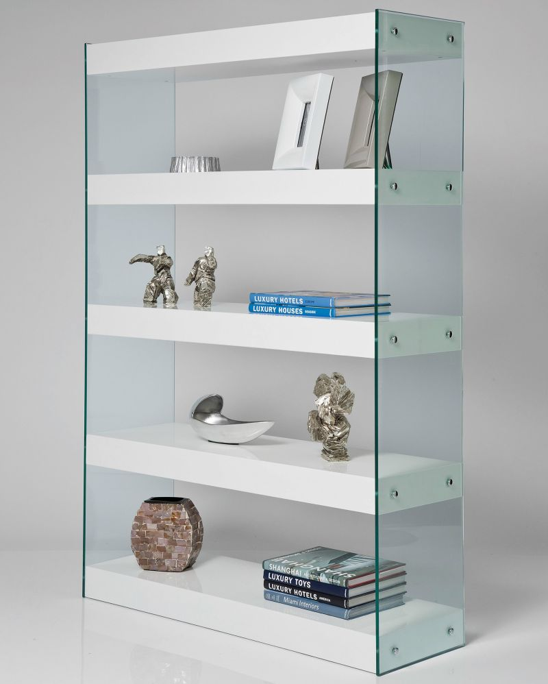 Glass open shelving system