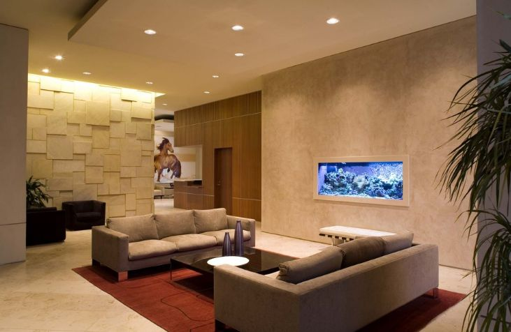 Living Room Aquarium Design