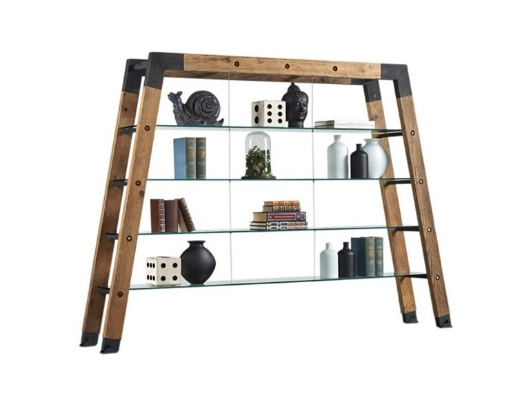 Open double sided divider shelving