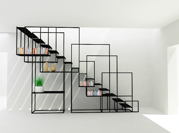 staircase design ideas Overlapping Cubes