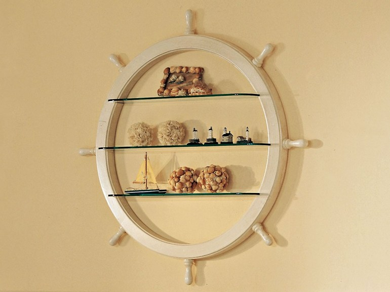Ship wheel and glass