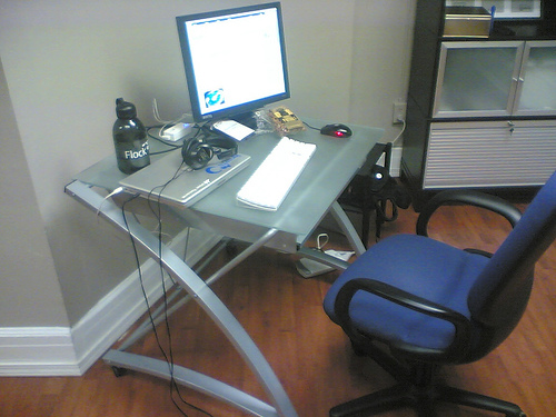 A Small, Individual Work Area Is Nice As Long As You Have Extra Storage Idea