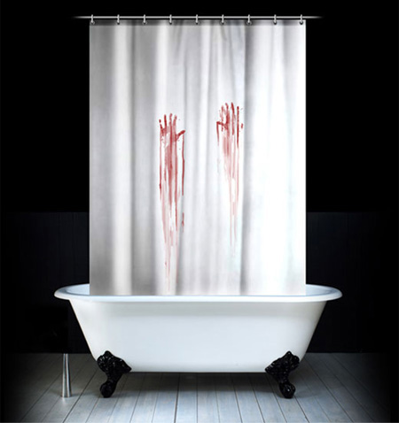 View In Gallery The Bloody Shower Curtain