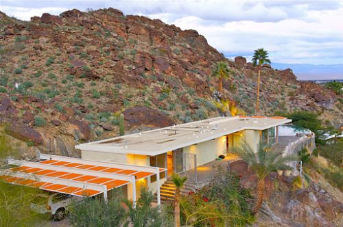Russell House Palm Spring California Blends Natural Elements with Architectural Designs