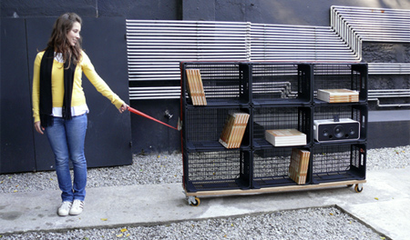 Attractive Portable Bookshelf. View In Gallery