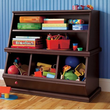 Attractive kids storage solutions from the land of nod for Living room storage for toys