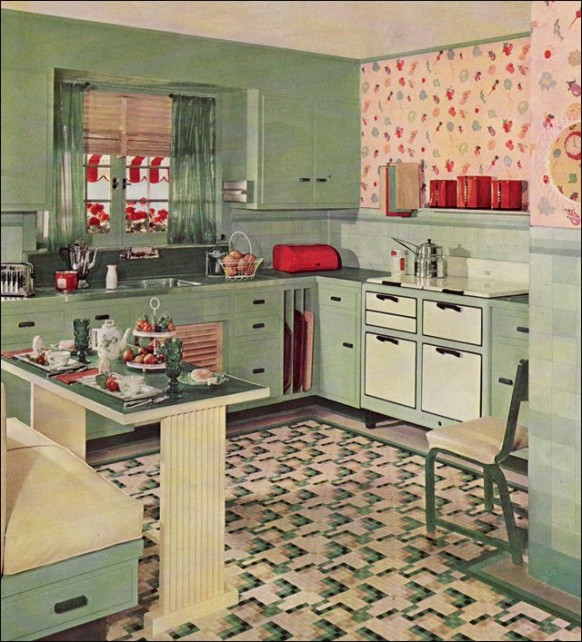 Retro kitchen design you never seen before for 1930s kitchen floor