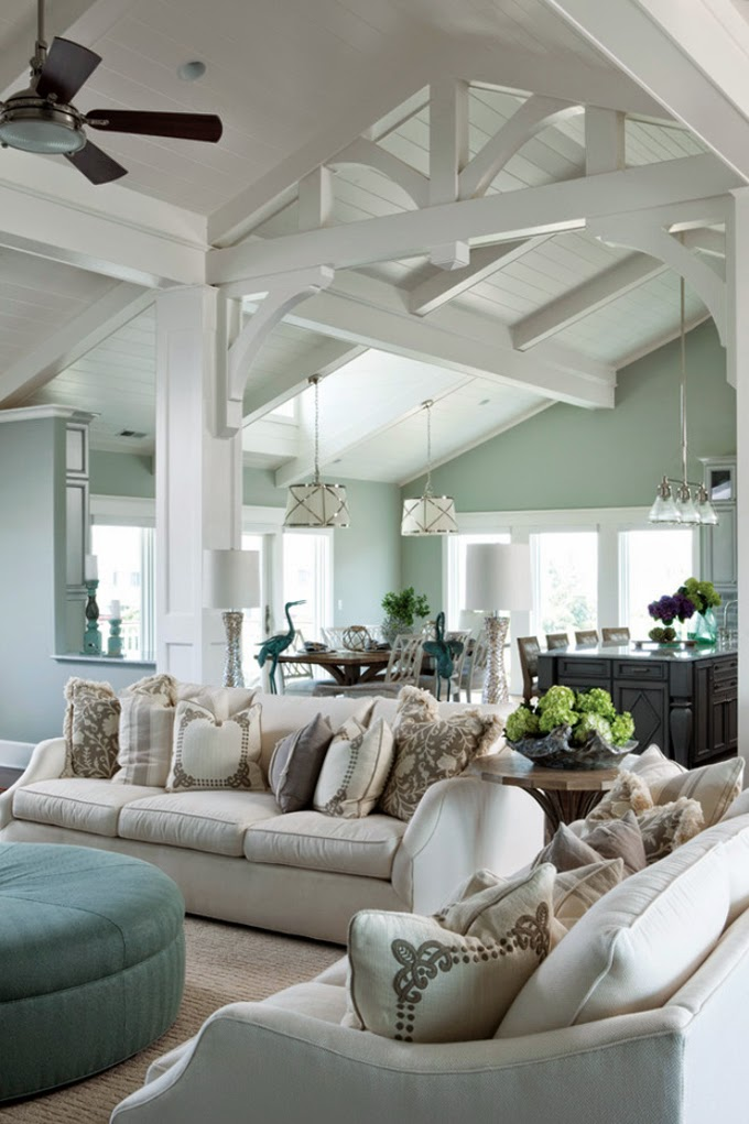 & How To Decorate Your Living Room With Turquoise Accents