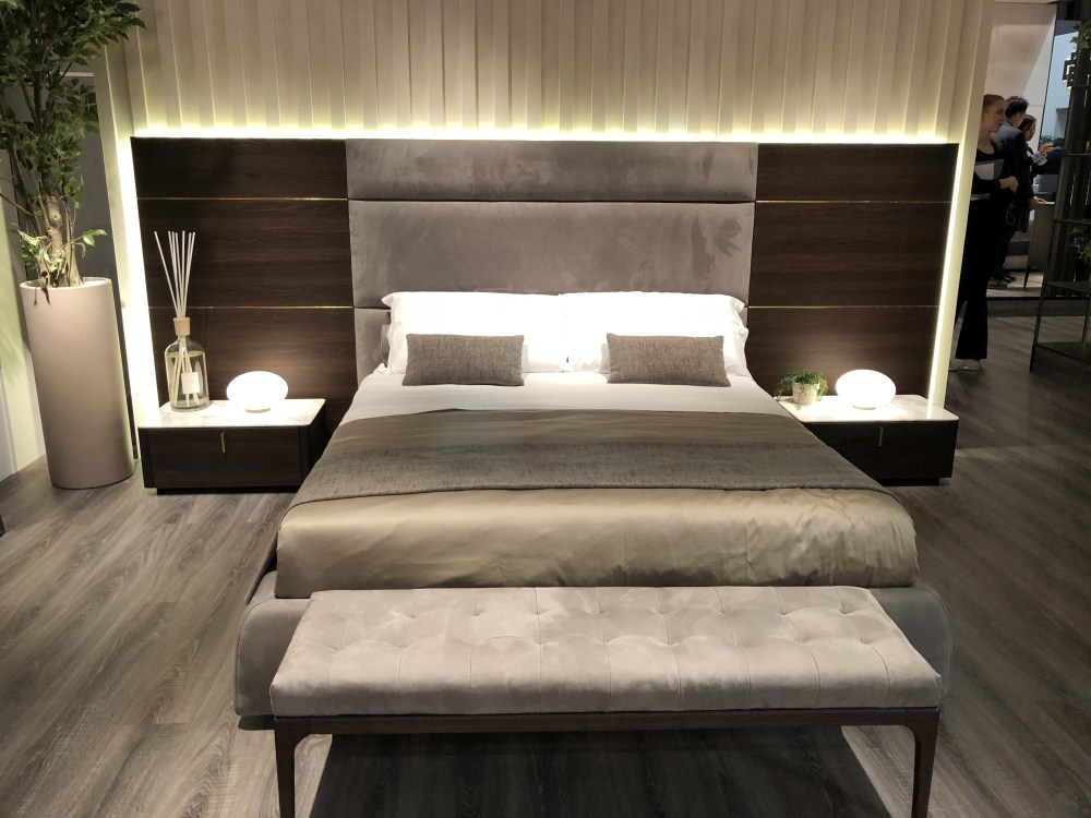 Accent lighting and texture are important for making a bedroom feel inviting