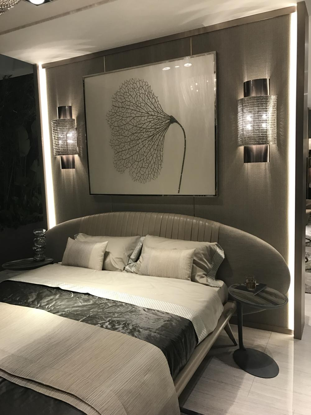 A cool-looking headboard can change the entire bedroom