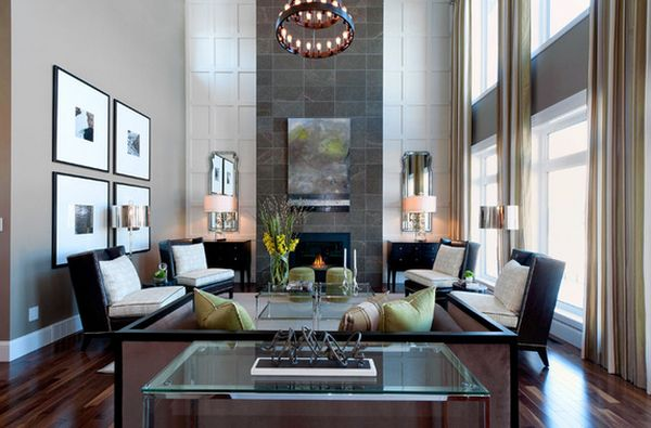 How To Decorate A Living Room With High Ceilings