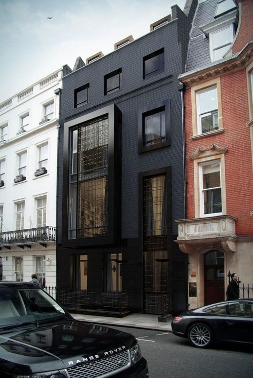 black-paint-facade-of-the-building