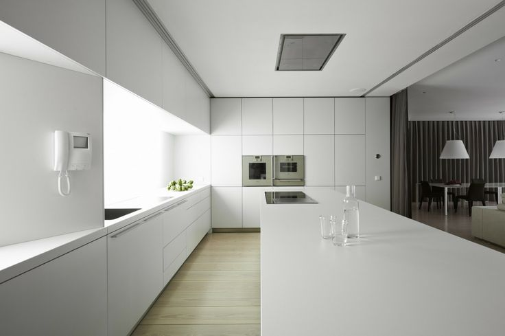 Built in appliances always look natural in contemporary kitchens