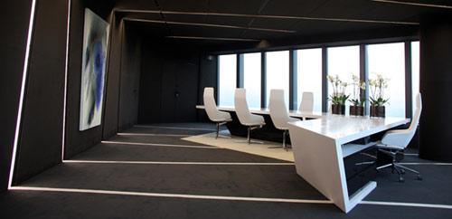 Deconstructivism Furniture Interior Design ~ A cero finishes crystal tower interior design phase one in