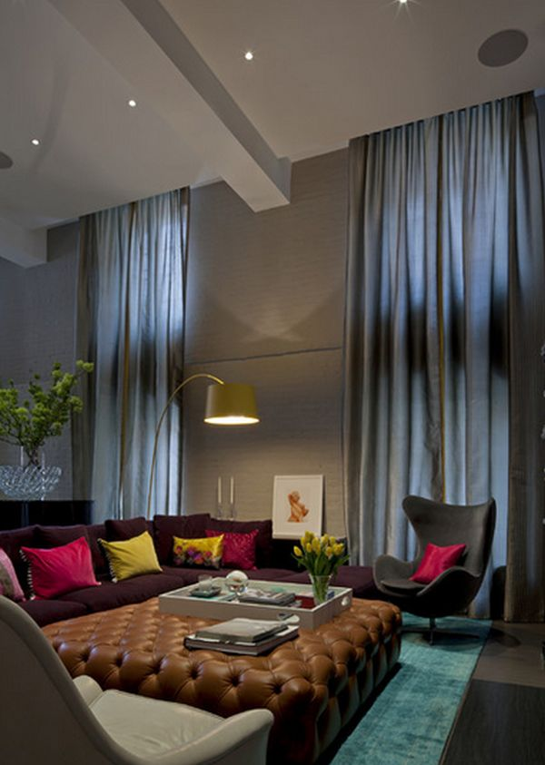 High Ceiling Curtains Prepossessing How To Decorate A Living Room With High Ceilings Design Decoration