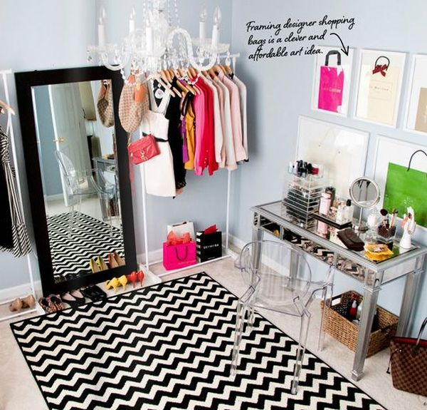 how to turn a small bedroom into a dressing room. Black Bedroom Furniture Sets. Home Design Ideas