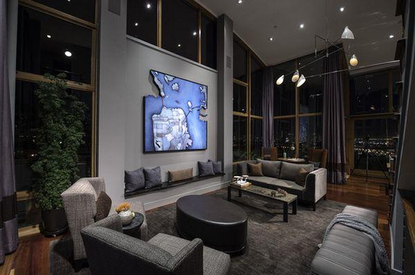 floor to ceiling windows - Interior Design Ceiling Living Room