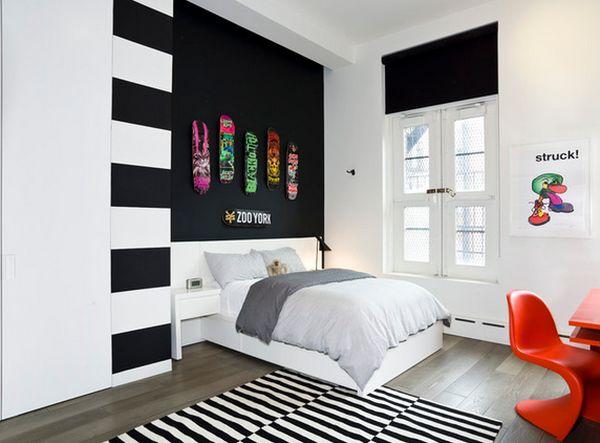 Stunning Peinture Noir Et Blanc Pour Chambre Images   House Design .