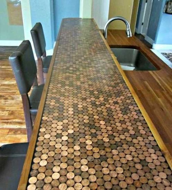 Decorate With Pennies.