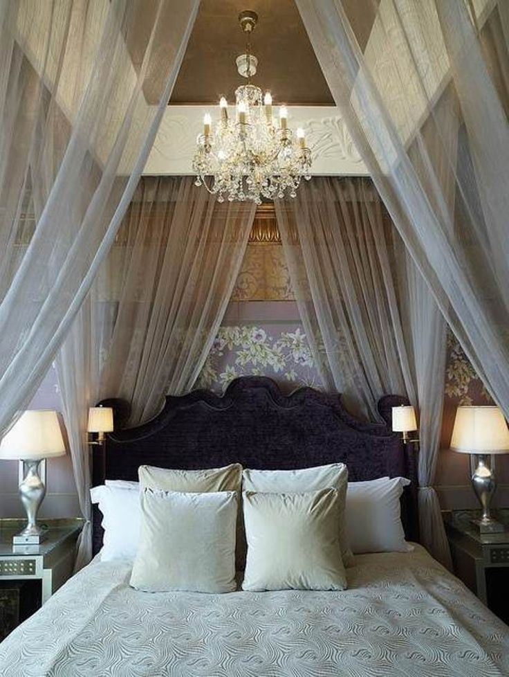 How you can make your bedroom look and feel romantic for How to create a canopy