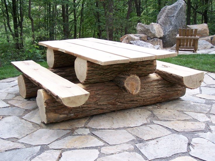 Affordable Dark Wood Picnic Table With