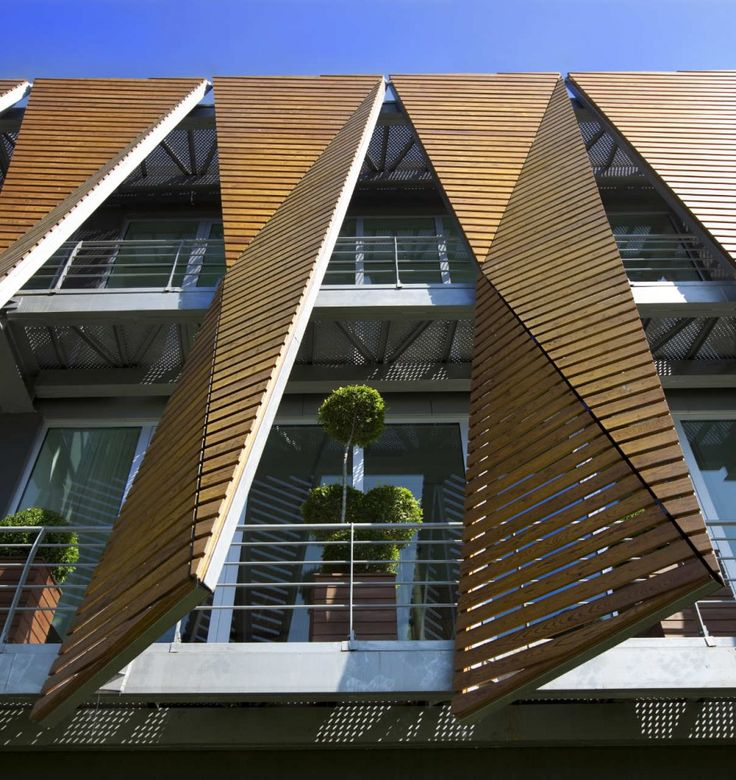 timber screen Office Building In Istanbul