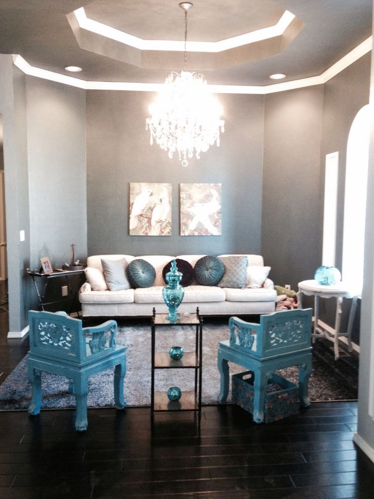 Turquoise And Silver Living Room Ideas