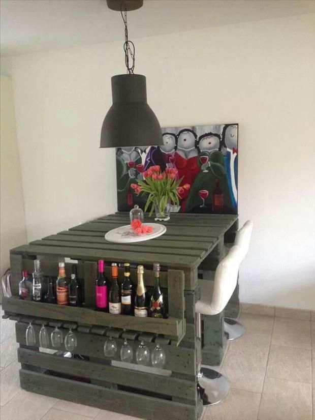 How to decorate a bar - Manualidades con muebles viejos ...
