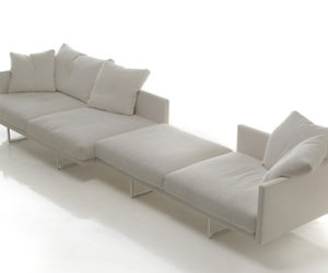 TOOT Modern Leather Sofa by Cassina
