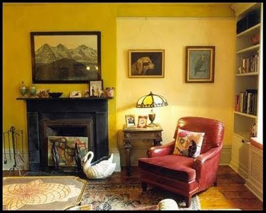 Interior ideas for brightening your room with the yellow paint for Yellow painted rooms