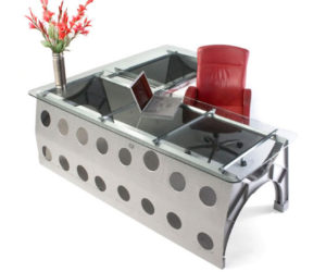 L Shaped KC 97 Fuel Tank Cradle Desk By MotoArt Design