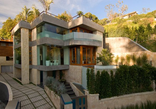 Three levels luxury los angeles real estate for Landscaping rocks for sale johannesburg
