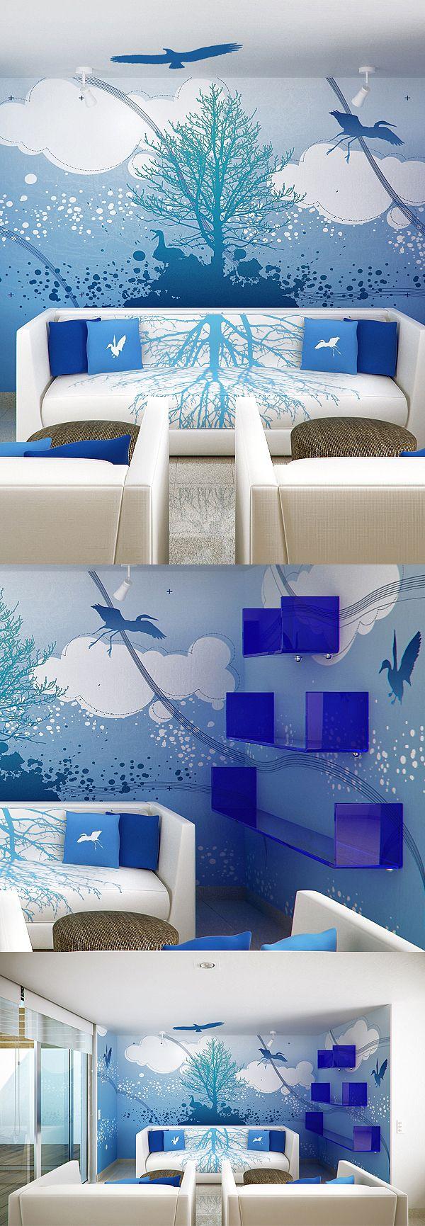 Beautiful Mural Azul