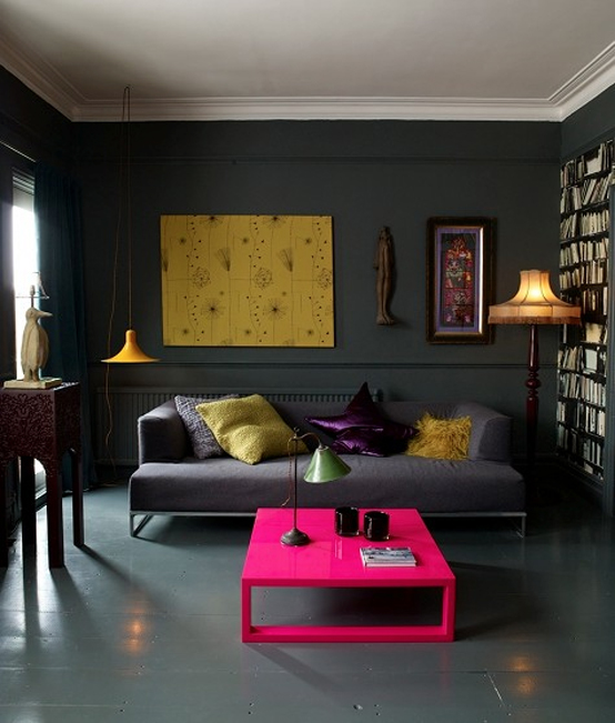 Dark Apartment Interior Design Extraordinary Apartment Interior Design Painting