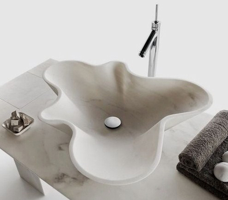 Floral Bathroom Sink from Decormarmi