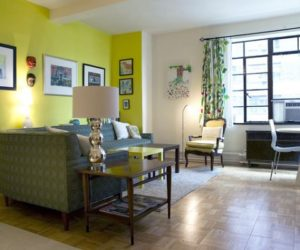 Green Theme NY Apartment Interior Design