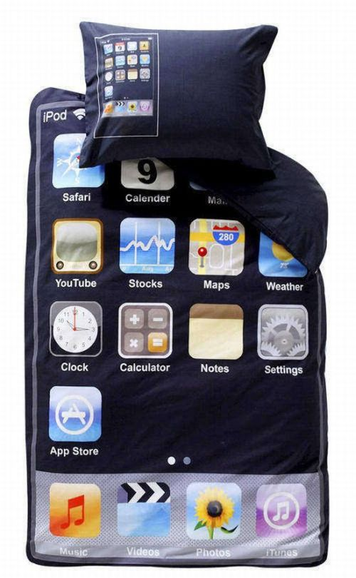 Awesome IPod Touch Bed Sheet.