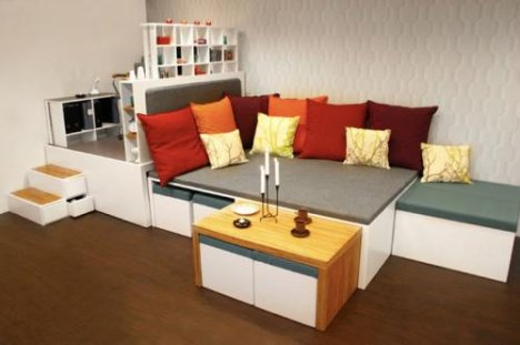Compact Living Room Furniture matroska a compact living concept