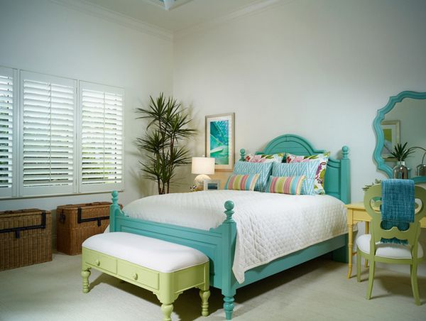Don T Be Afraid Of Color When Picking The Furniture For Bedroom You Necessarily Have To Go With Usual Brown Stain Wood