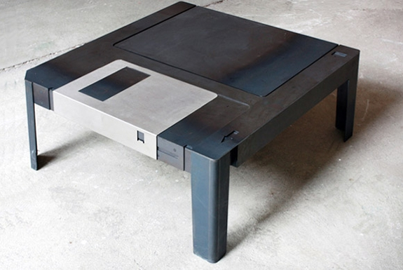 tech furniture Floppy Disk Coffee Table
