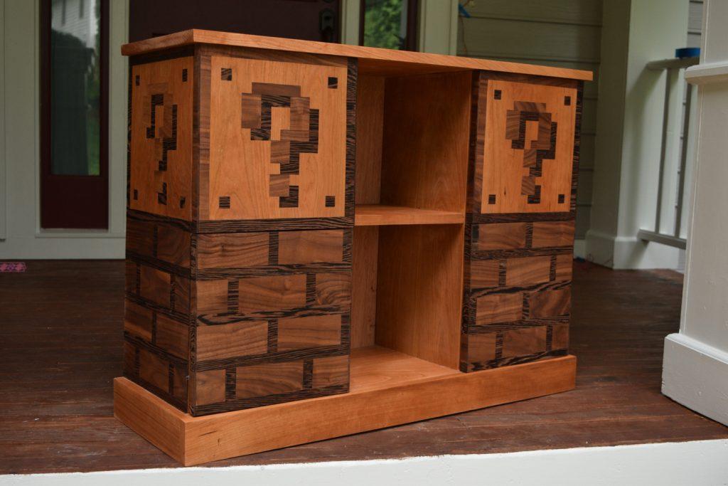 tech furniture Mario Themed Bookcase