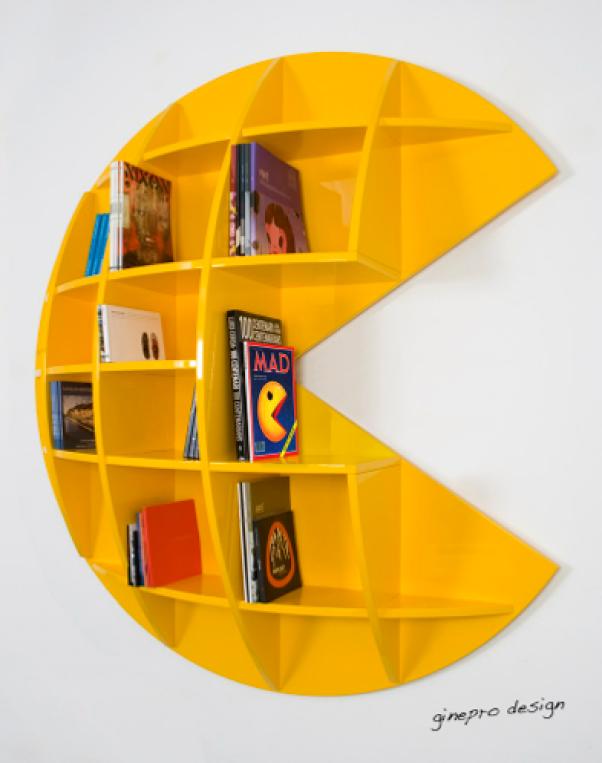 tech furniture Pac Man Bookcase