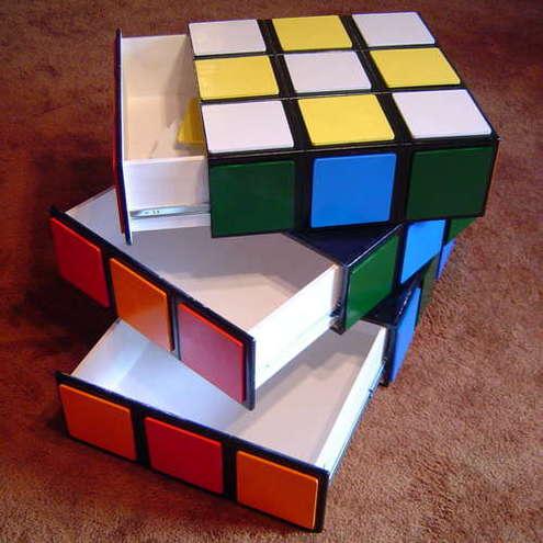 tech furniture Rubik Cube Dresser