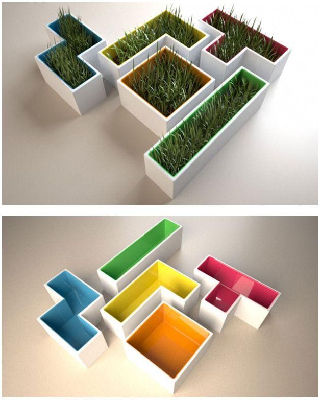 tech furniture Tetris Plant Pots