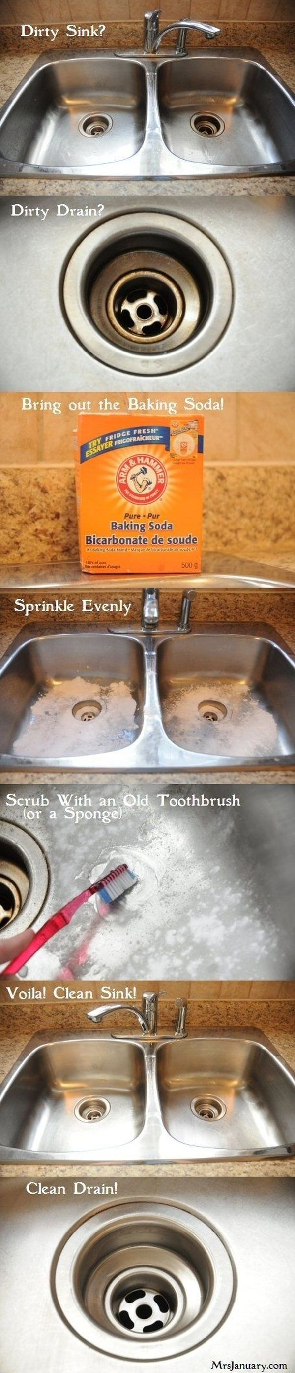 cleaning kitchen sink with baking soda 13 simple cleaning tips and hacks that make the house sparkle 9421